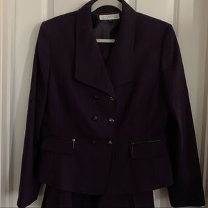 2 piece suit Tahari purple